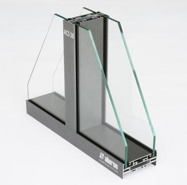 ACS38 systemy aluminiowe ścianka